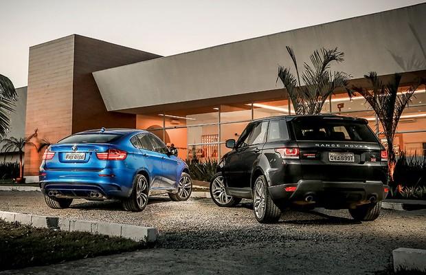 BMW X6 M e Land Rover Range Rover Sport (Foto: Rafael Munhoz / Autoesporte)