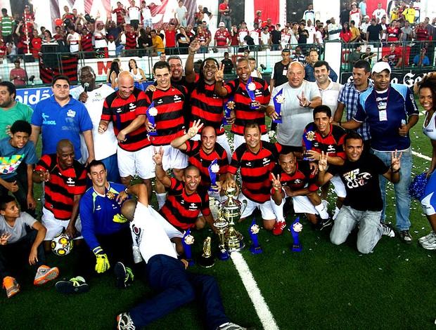 Flamengo conquista tricampeonato do Brasileiro de showbol (Foto: Ricardo Cassiano / Divulgação)