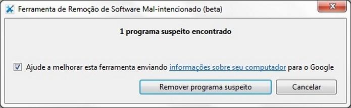 Ferramenta do Google para remoção de software mal-intencionado (Foto: Reprodução/Raquel Freire)