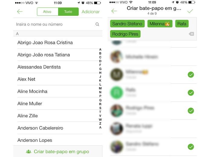 Escolha quantas pessoas quiser para um bate-papo em grupo no ICQ (Foto: Reprodução/Aline Jesus)