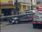 Em Fortaleza, carro da PM bate em poste durante perseguição a bandidos