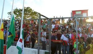 Estádio Nabor Júnior, o Naborzão, em Tarauacá (Foto: Arison Jardim/Secom)