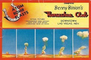 Convite para uma 'Atomic party' no Benny Binion's, cassino que existe até hoje