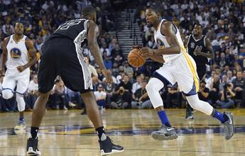 """Durant leva surra com os Warriors e espera recuperação: """"Tapa na cara"""""""