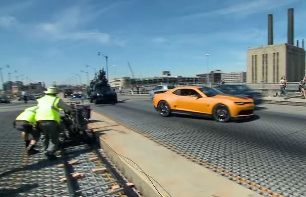 Chevrolet mostra bastidores do Transformers 4 (Foto: Reprodução)