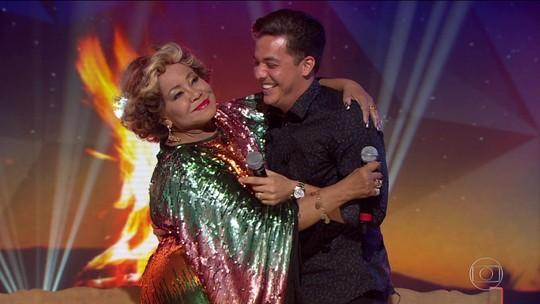 Arraiá do Fantástico: Alcione e Wesley Safadão cantam  juntos
