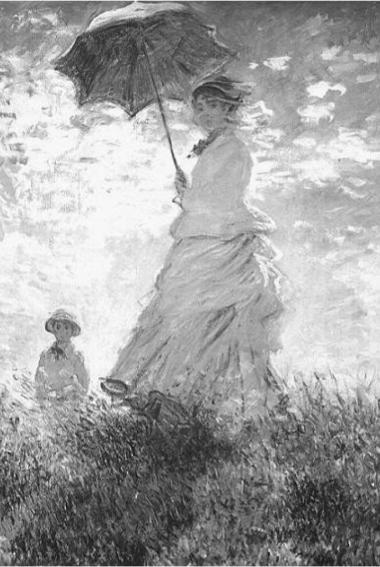 MONET,C. Mulher com sombrinha. 1875, 100x81cm. In: BECKETT, W. História da Pintura. São Paulo: Ática, 1997. (Foto: Reprodução/Enem)