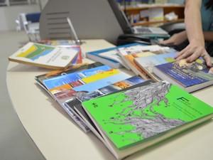 Livros podem ser lidos enquanto esperam os voos ou durante viajam aérea (Foto: Fabiana Figueiredo/G1)