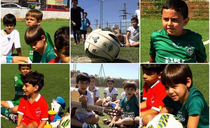 Resenha do Globo Esporte com a garotada (Foto: Reprodução/TV Anhanguera)