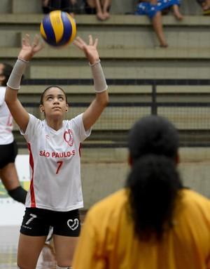 Fofão e sobrinha - Jogos Escolares (Foto: Washington Alves/Exemplus/COB)