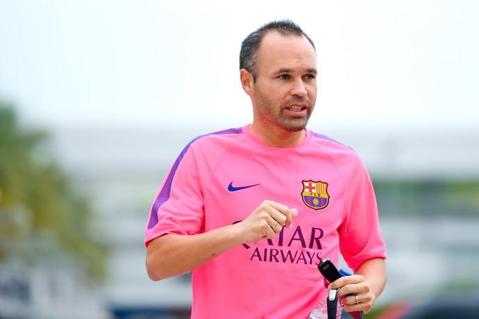 Andrés Iniesta Treino Barcelona (Foto: Getty Images)