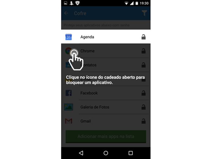 Selecionando os aplicativos para bloquear no PSafe Total para Android (Foto: Reprodução/Teresa Furtado)