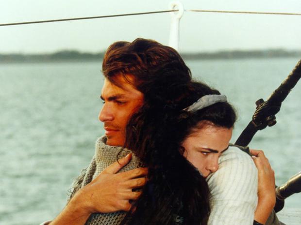 Com Ana Paula Arósio, em 'Terra Nostra' (1999) (Foto: Reprodução TV Globo)