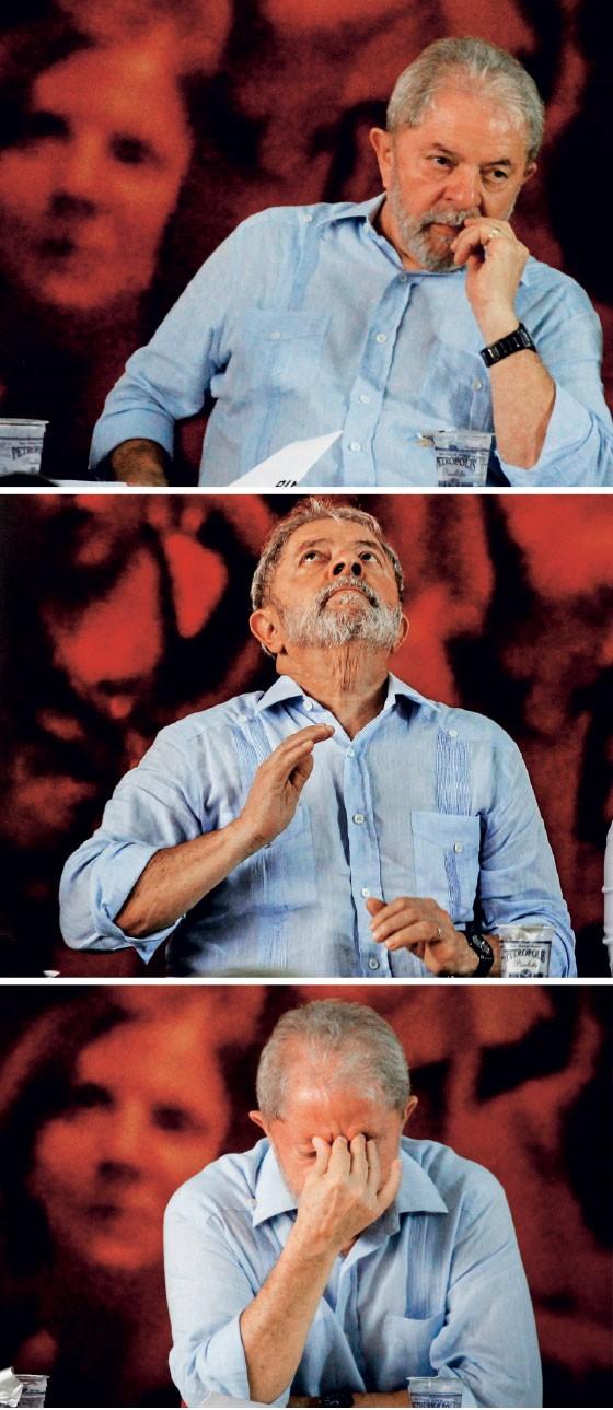 DE NOVO  O ex-presidente Lula no lançamento de sua pré-candidatura, na semana passada. Desta vez, as regras estão contra ele  (Foto:  Aloisio Mauricio /Folhapress, Rafael Arbex/Estadão Conteúdo e Aloisio Mauricio /Folhapress)