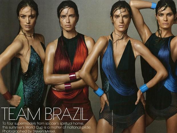 Modelos brasileiras na Vogue americana de junho de 2014 (Foto: Reproduo Vogue)