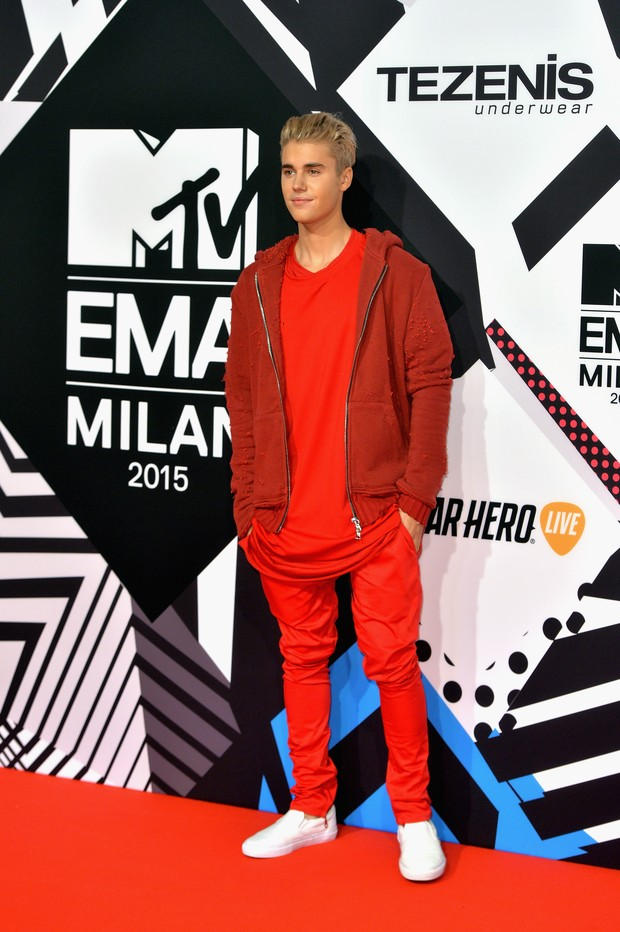 Justin Bieber no MTV Europe Music Awards 2015 (Foto: Getty Images)