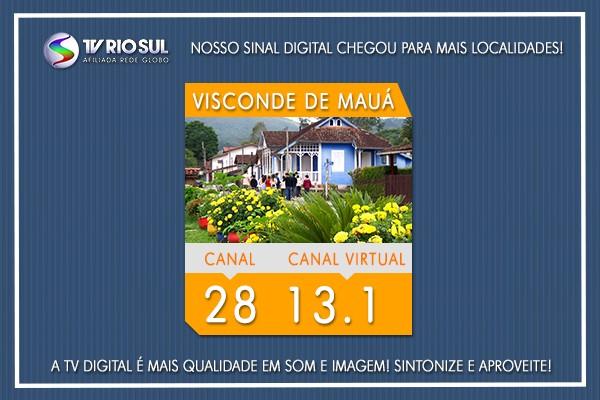 Visconde de Mauá já tem o sinal HD da TV Rio Sul (Foto: TV Rio Sul)