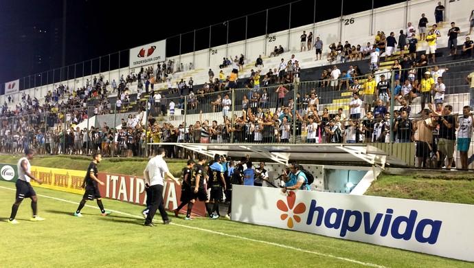 ABC - jogadores eliminação Copa do Nordeste (Foto: Jocaff Souza/GloboEsporte.com)