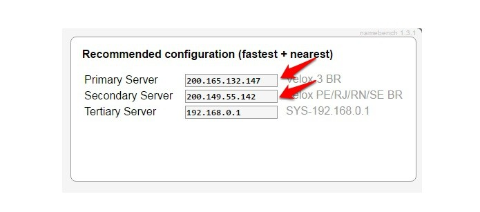 Copie o DNS primário e secundário e configure no seu dispositivo ou direto no roteador (Foto: Reprodução/Gabriel Ribeiro)