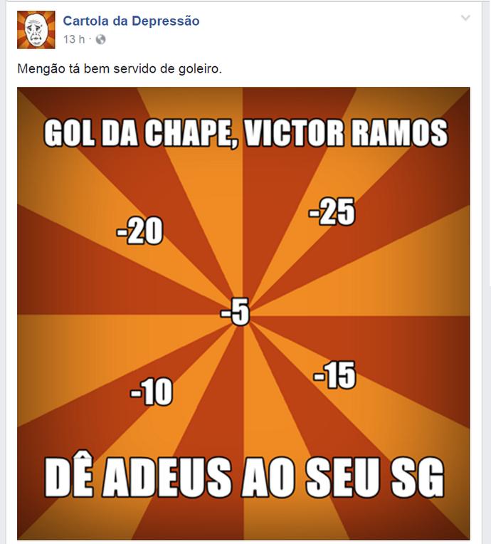 zoação rede social saldo de gol cartola rodada 9 (Foto: Reprodução)