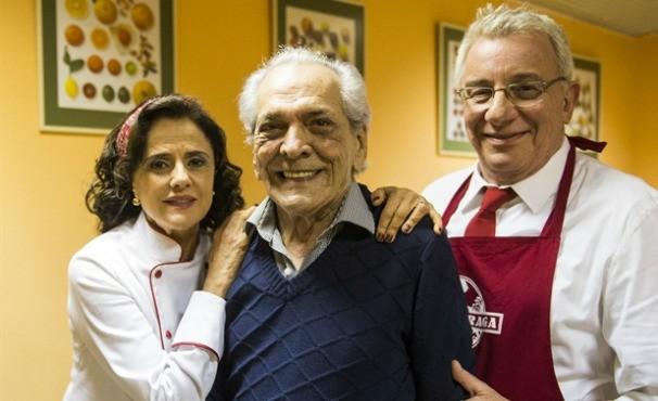 Nenê ( Marieta Severo ), Rui ( Lúcio Mauro ) e Lineu ( Marco Nanini ) (Foto: Rede Globo/ João Miguel Júnior)