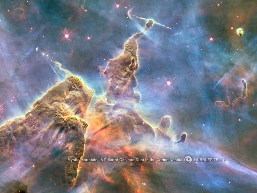 Montanha Mística (Foto: NASA, ESA, STScI/AURA)