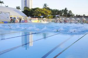 A Vila Olímpica Ronaldo Marinho recebeu as provas de natação dos Jogos Escolares da Juventude, que aconteceram neste mês (Foto: Divulgação / Jogos Escolares da Juventude)