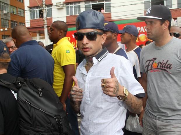O MC Guimé, símbolo do funk ostentação de São Paulo, chega ao trio de Claudia Leitte para participar do carnaval de Salvador (Foto: Dilson Silva/AgNews)