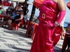 Fã se veste de 'material girl' para atrair atenção de Madonna no Rio