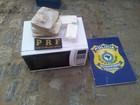 Jovem é preso com droga avaliada em R$ 80 mil escondida em microondas