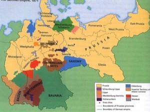 Mapa do império Germânico em 1870 (Foto: Reprodução/ TV Gazeta)