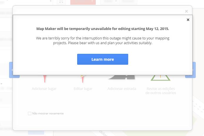 MapMaker vai ser suspenso a partir desta terça (Foto: Reprodução/Aline Jesus)