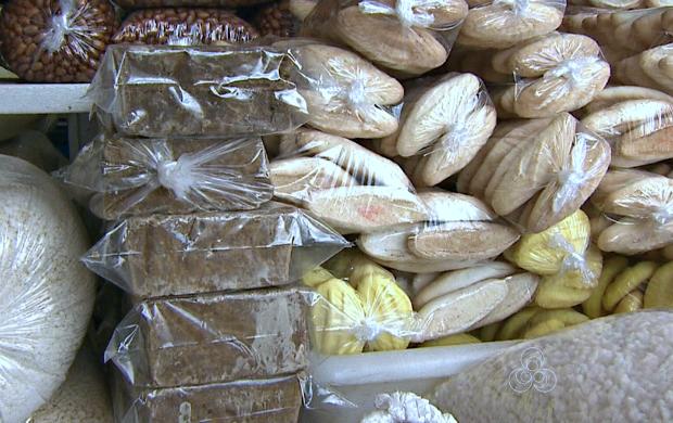 Mercado do agricultor tem grande variedade de produtos regionais  (Foto: Bom Dia Amazônia)