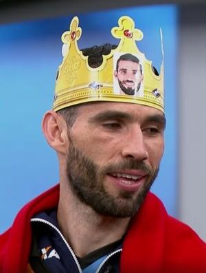 Vanderlei Santos coroado Bem, Amigos! (Foto: Reprodução SporTV)