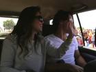 Paula Fernandes desembarca na África com o namorado