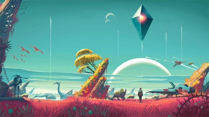 No Mans Sky irá oferecer o maior mundo aberto já concebido para um game: um universo quase infinito (Foto: Reprodução/Play France)