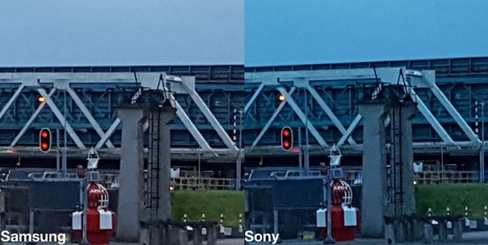 Comparativo com sensores de Samsung e Sony em ambiente de pouca luz (Foto: Reprodução/Sam Mobile)