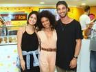 Pablo Morais vai com a namorada a evento no Rio