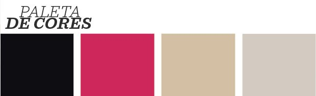Décor do dia: sala decorada com preto e pink (Foto: Reprodução)