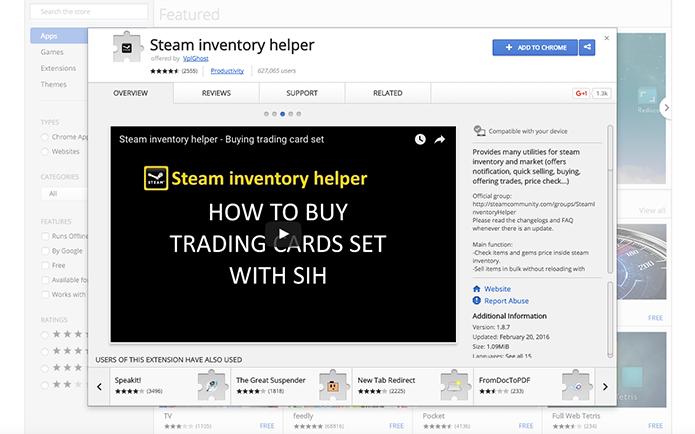Como baixar o Steam Inventory Helper para ajudar nas