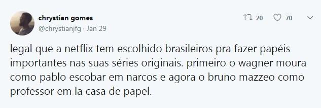Usuário do Twitter faz teoria com semelhança de Bruno Mazzeo e Álvaro Morte (Foto: Reprodução / Twitter)