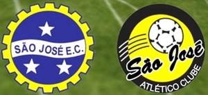 São José Esporte Clube e ilustração do São José Atlético Clube (Foto: TV Vanguarda)