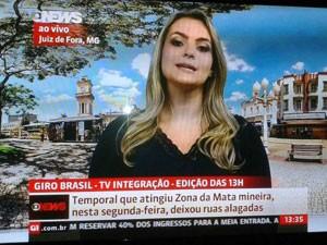 Larissa Zimmermann ao vivo na Globo News (Foto: Divulgação)