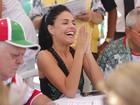 Famosos vão à apuração das notas das escolas de samba do carnaval do Rio