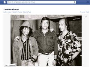 Djavan (à esquerda) e Paco de Lucia (à direita) em foto divulgada pelo brasileiro no Facebook nesta quarta (Foto: Reprodução/Facebook)