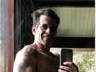Leandro Hassum mostra seus braços musculosos na web: '#vidanova #foco'