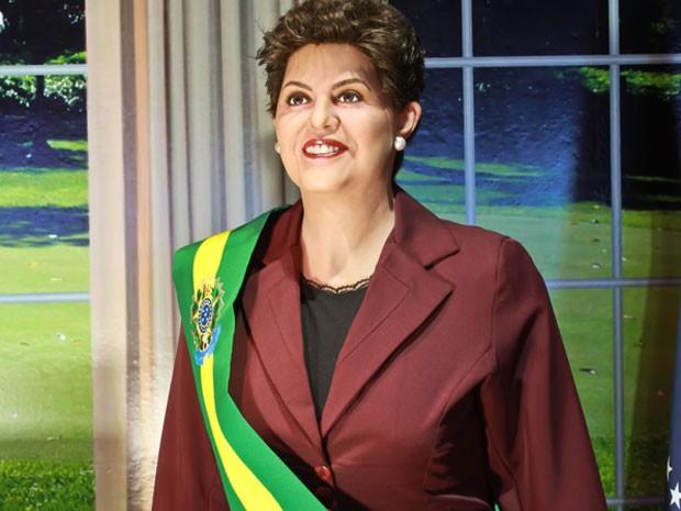 Uma exposição em São Paulo reunirá a presidente Dilma Rousseff, astros do cinema, da música e do futebol a partir de sexta-feira (8). Os bonecos de cera da mostra Dreamland – Museu de Cera, vinda de Gramado (RS) , estarão em exibição no Mooca Plaza Shoppi (Foto: Divulgação)