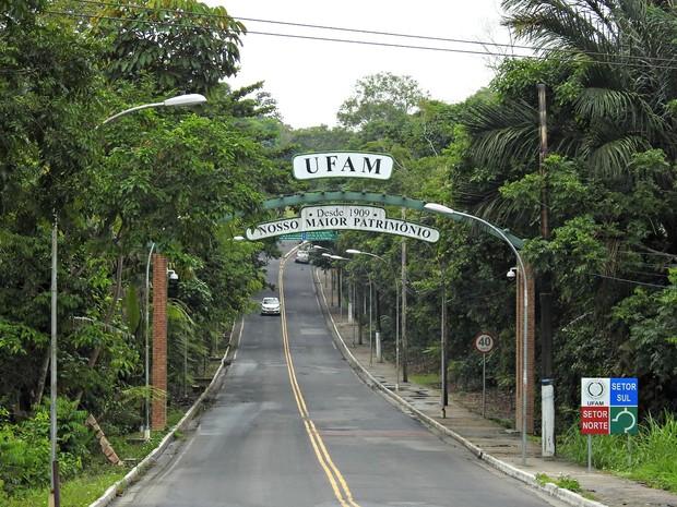 Universidade Federal do Amazonas fica em área de floresta urbana (Foto: Adneison Severiano/G1 AM)