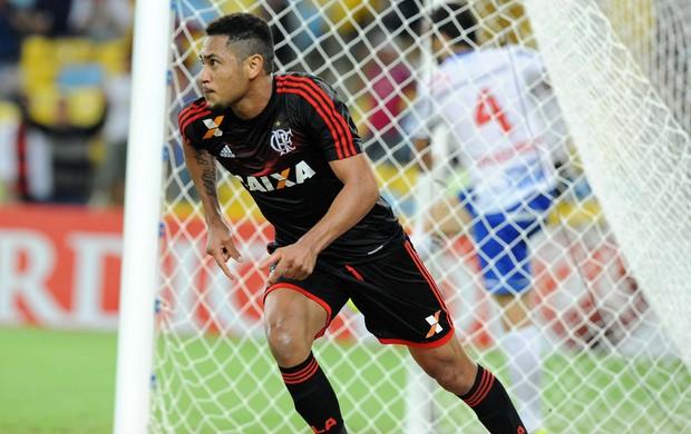 Hernane gol Flamengo x Bahia (Foto: Alexandre Vidal / Flaimagem)