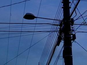 DIV Iluminação Pública Divinópolis (Foto: TV Integração/Reprodução)